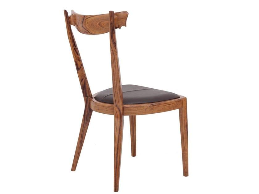 Teak chair with integrated cushion SARU by ALANKARAM