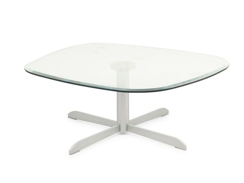 Glass coffee table for living room SASSI | Glass coffee table by Calligaris