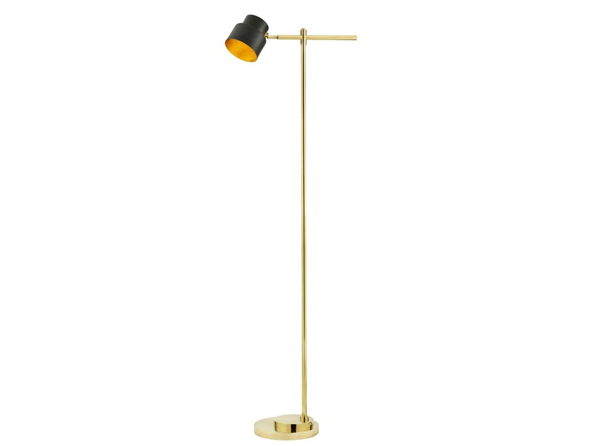 LED adjustable brass floor lamp SATELLITE 01 by Il Bronzetto