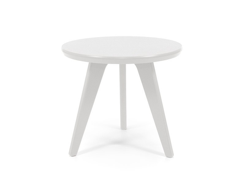 Low recycled plastic garden side table SATELLITE | Round coffee table by Loll Designs