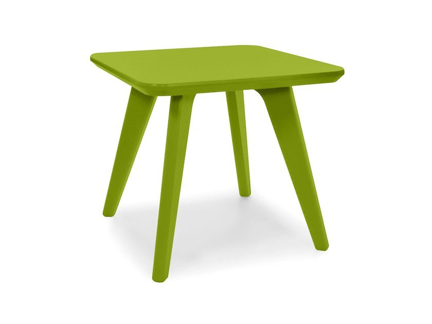 Merveilleux Low Recycled Plastic Garden Side Table SATELLITE | Square Coffee Table By  Loll Designs