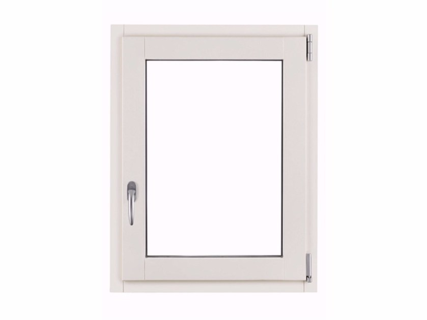 Aluminium and wood top-hung window SATIN by FOSSATI PVC