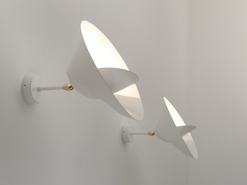 Direct-indirect light adjustable metal wall light SATURNE by Serge Mouille