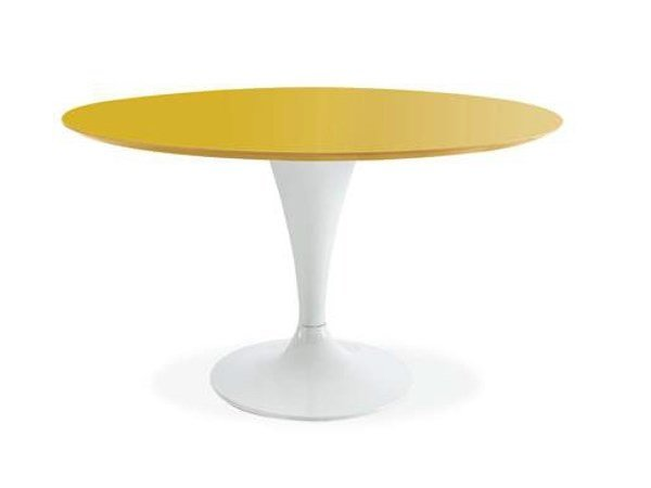 Lacquered round table SATURNO by CREO Kitchens