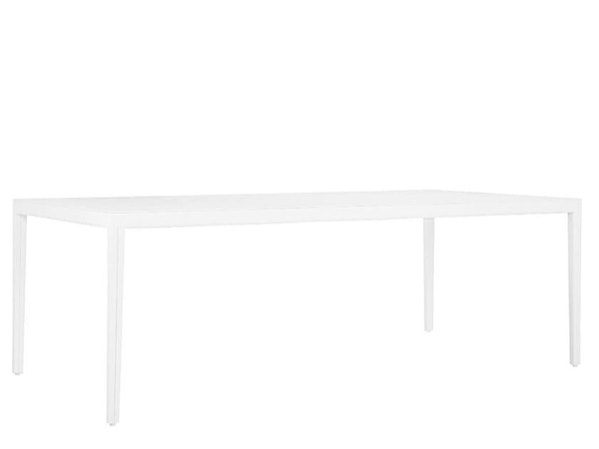 Rectangular aluminium dining table SAVANNAH | Dining table by JANUS et Cie