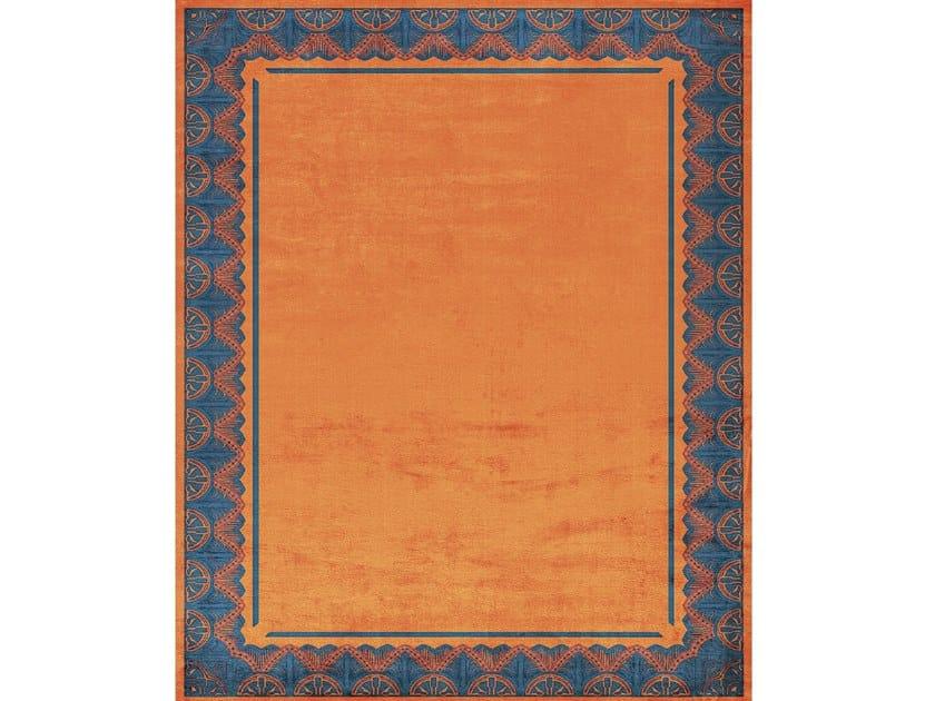 Handmade rectangular rug SAVOY NOBLE ORANGE by Tapis Rouge