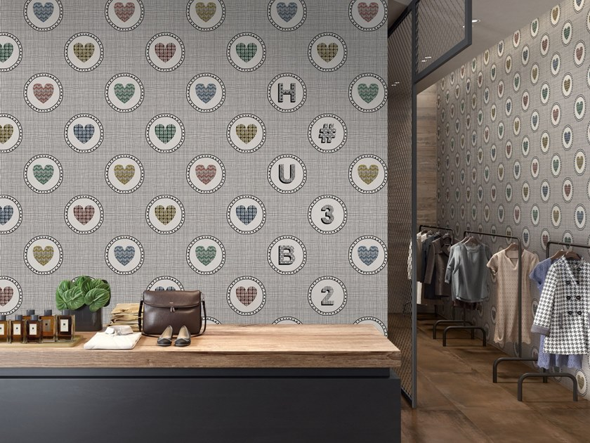 Porcelain stoneware wall tiles SAY IT WITH FLOWERS by ABK
