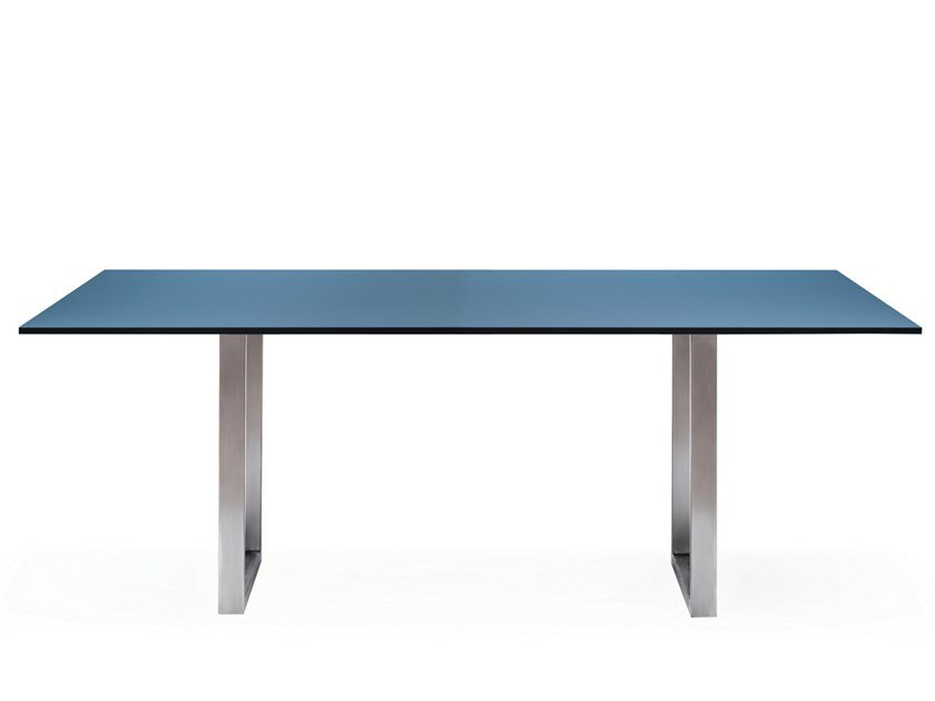 Rechteckiger Tisch aus HPL SC 25 | Tisch aus HPL by JANUA
