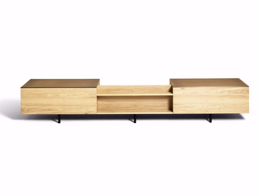 Wooden sideboard with drawers SC16 by DE PADOVA