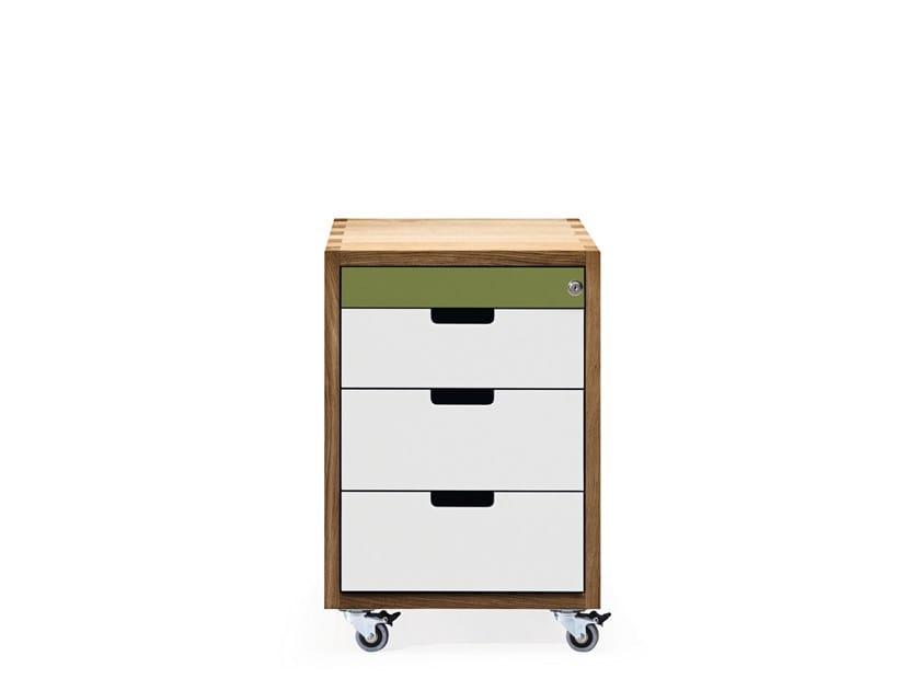 Rollcontainer aus HPL SC30 | Bürokommode aus HPL by JANUA