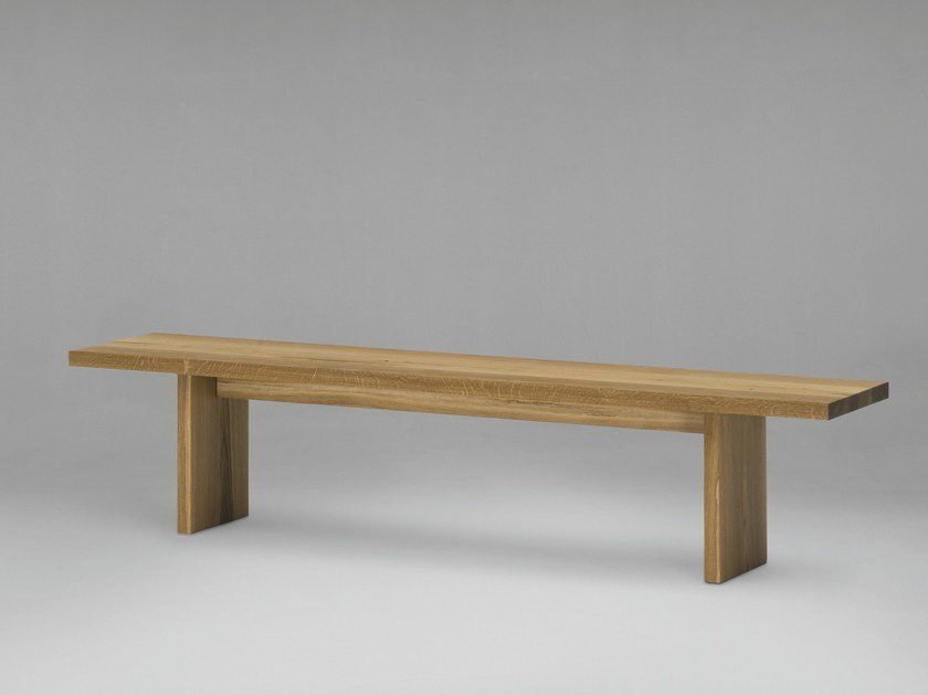 Wooden bench SC35 by Janua