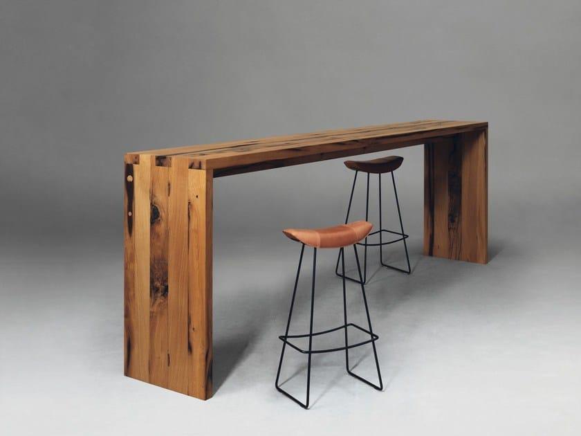 Tavolo alto rettangolare in legno SC52 by Janua