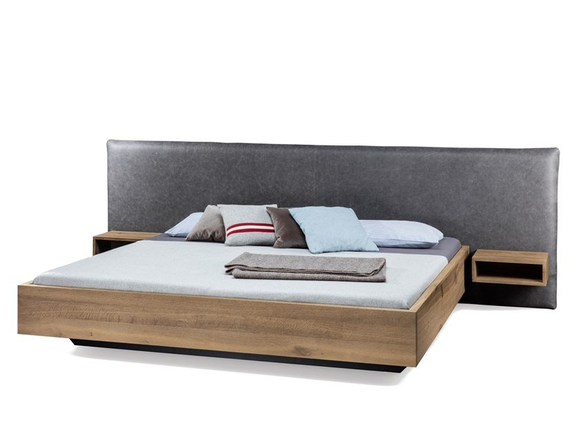 Wooden double bed SC56 by JANUA
