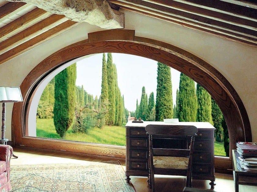 Finestra a taglio termico in legno sc80 100 finestra a for Finestra a vasistas