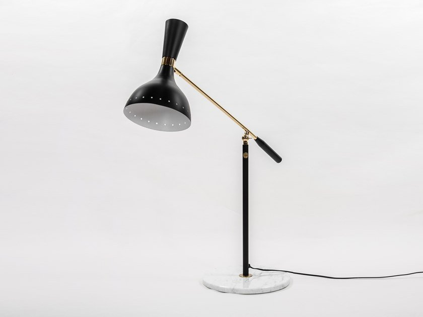 Adjustable aluminium table lamp SCACCINO - F4004 | Table lamp by Stilnovo