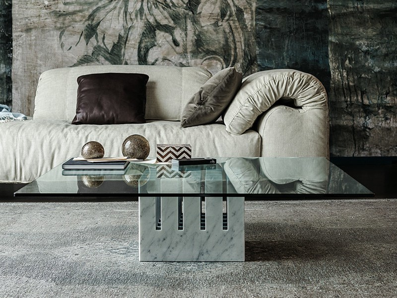 Square crystal coffee table SCACCO by Cattelan Italia