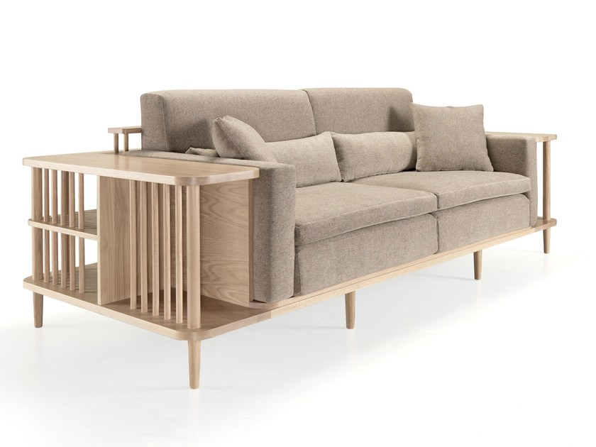 Sofa with integrated magazine rack SCAFFOLD by Wewood