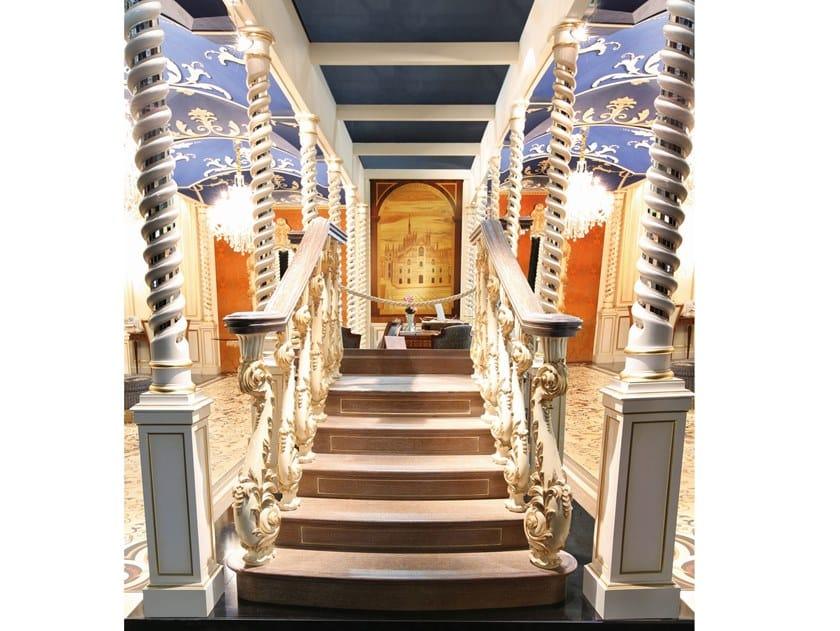 Scala a giorno rettilinea in legno SCALA by Arnaboldi Interiors