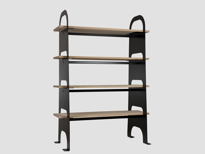 Open freestanding double-sided shelving unit SCALA by Gie El Home