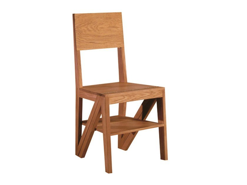 Oak chair / step stools ZERO | Chair by Morelato