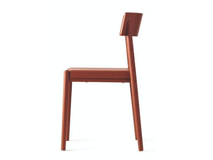 Stackable wooden chair SCANDIA by Calligaris