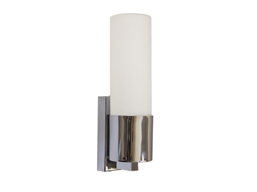 Opal glass wall light for bathroom SCAREL by Brossier Saderne