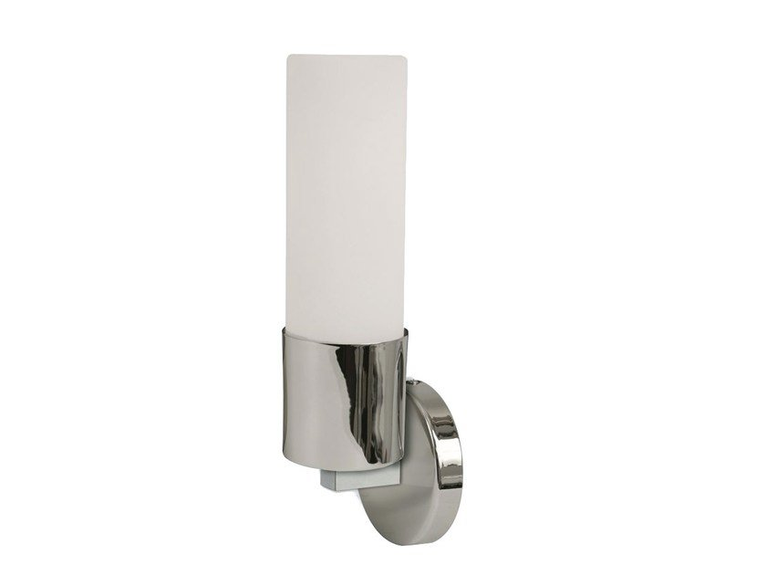 Opal glass wall light for bathroom SCARPANIS by Brossier Saderne