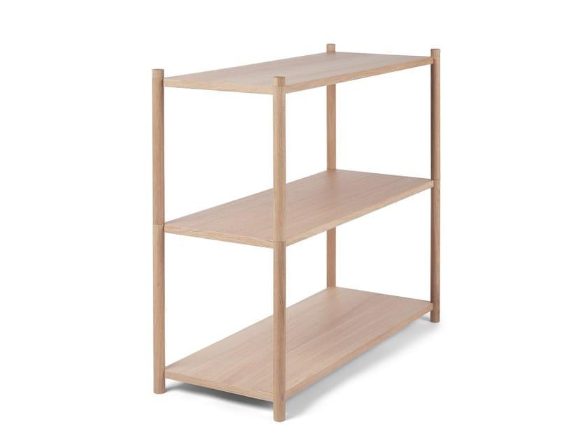 Modular oak shelving unit SCEENE A by Gejst