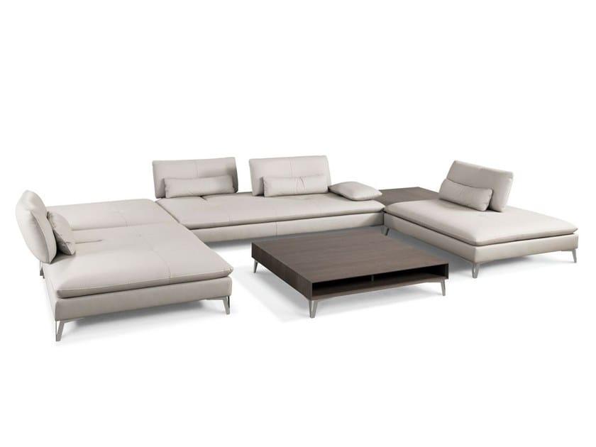 Leather sofa SCENARIO by ROCHE BOBOIS