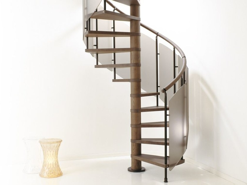 Aluminium Spiral staircase SCENIK 080 VERVE | Spiral staircase by Fontanot