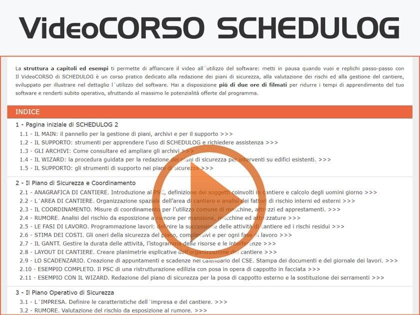 VideoCORSO SCHEDULOG