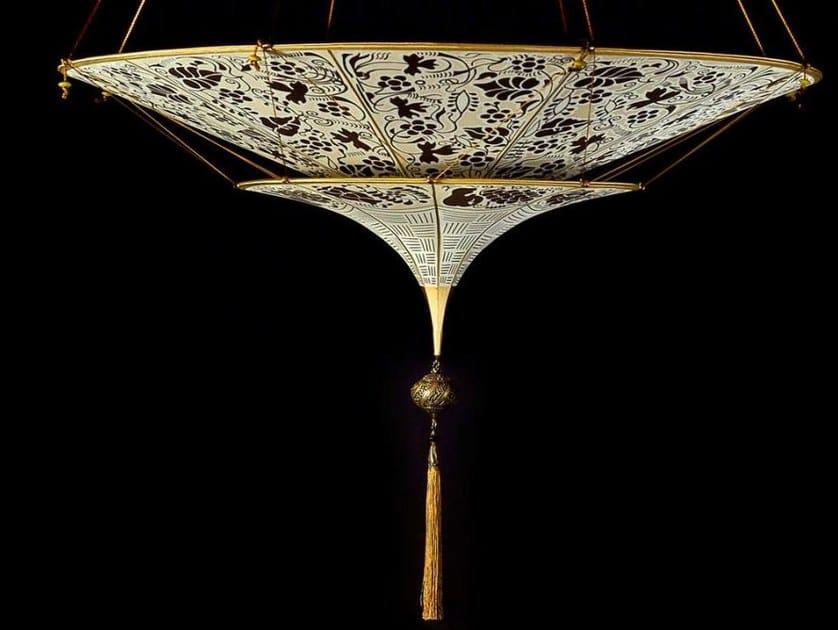 Silk pendant lamp SCHEHERAZADE 2 TIERS by Fortuny