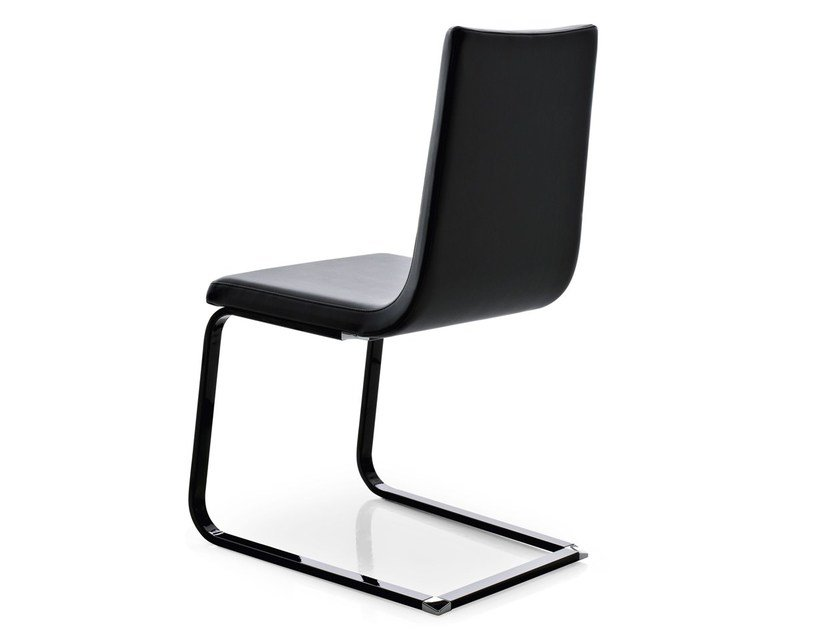 Cantilever upholstered imitation leather chair SCHWINGER by Pointhouse