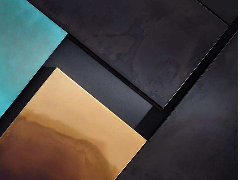 Sistemi di rivestimento a pannelli in metallo SCOMPOSTA & BOISERIE by DE CASTELLI