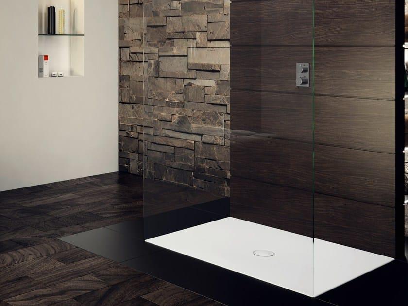 Piatto doccia filo pavimento rettangolare in acciaio smaltato SCONA by Kaldewei Italia