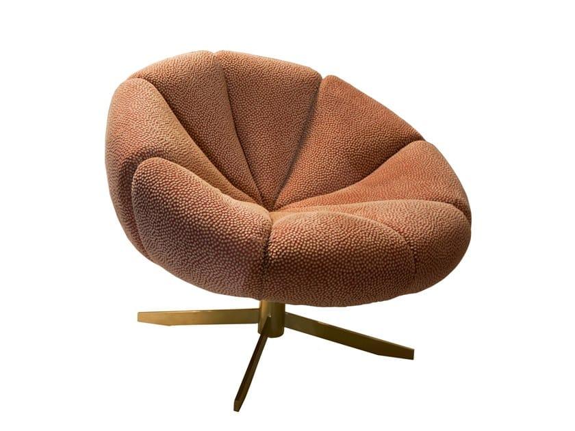Swivel fabric armchair with 4-spoke base SCOTT | Swivel armchair by Jetclass