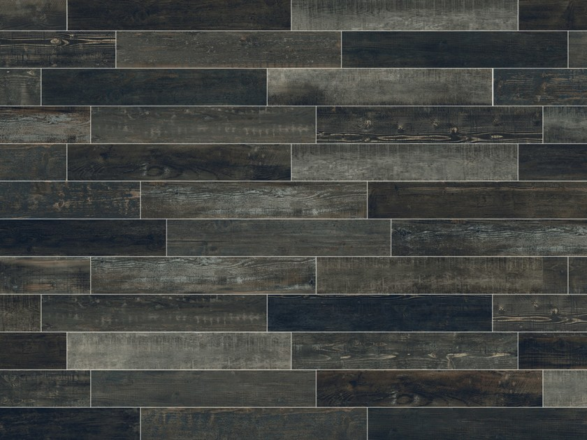 Full-body porcelain stoneware wall/floor tiles with wood effect SCRAPWOOD Coke by Italgraniti