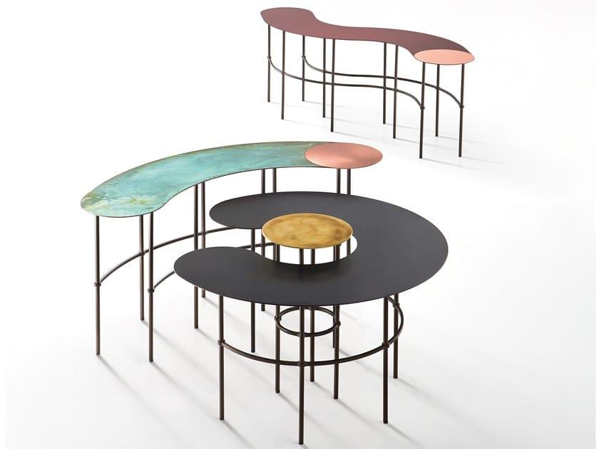 Tavolino in metallo SCRIBBLE by DE CASTELLI