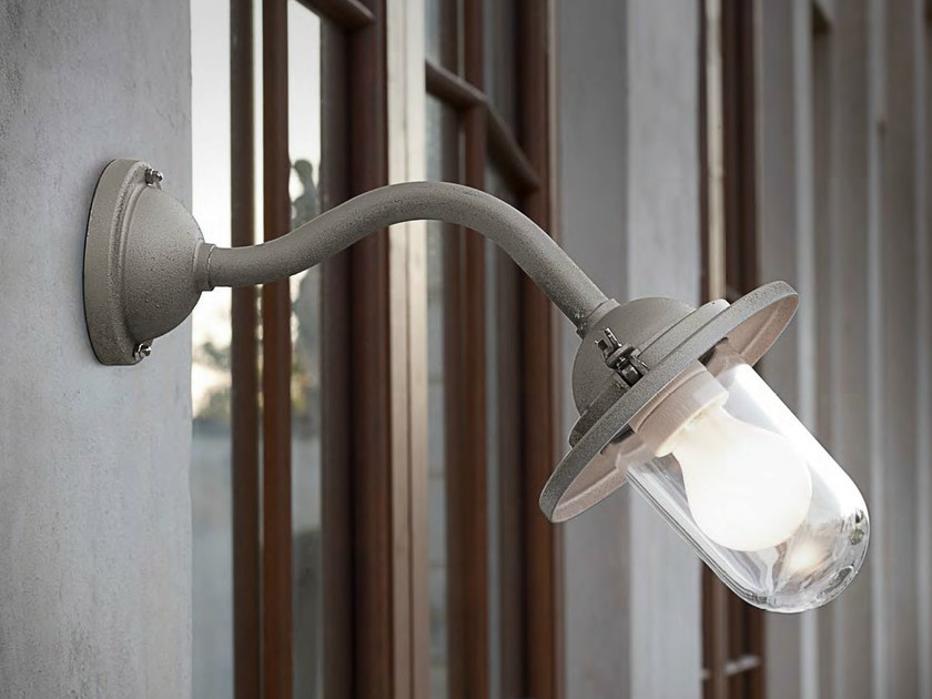 Iron wall lamp with fixed arm SCUDERIA | Wall lamp with fixed arm by Aldo Bernardi