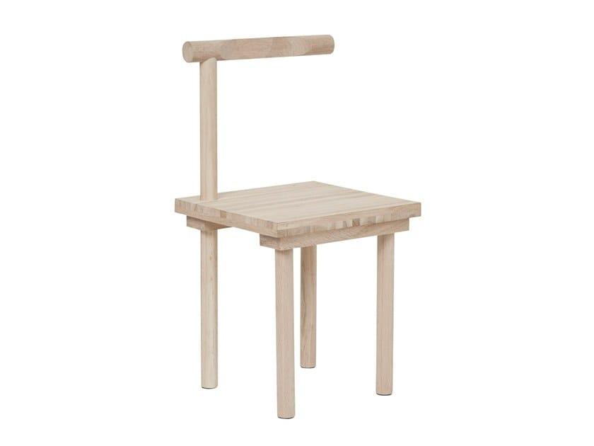 Oak chair SCULPTURAL | Oak chair by Kristina Dam Studio