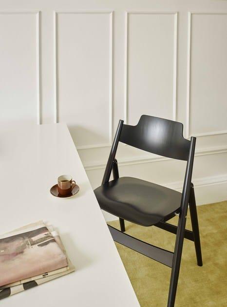 Klappbarer Stuhl Aus Holz Se 18 By Wildespieth Design Egon Eiermann