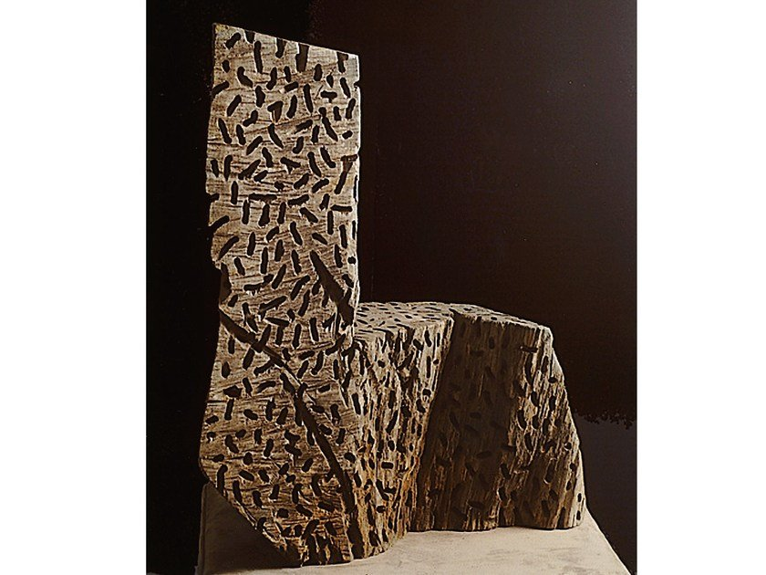 Wooden sculpture SE DIO | Sculpture by Mirabili