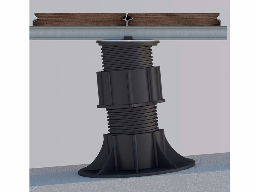 """Modular system for raised flooring """"SE"""" support system and aluminium joist by ETERNO IVICA"""
