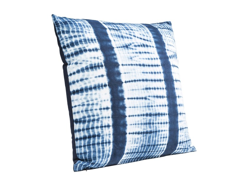 Square cotton cushion SEA BREEZE BATIC STRIPE by KARE-DESIGN