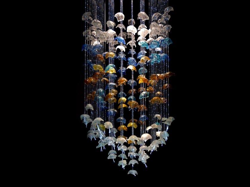 LED glass pendant lamp SEA FLOWERS by Baranska Design
