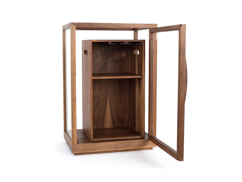 Wooden bar cabinet SEAGRAM by Porventura