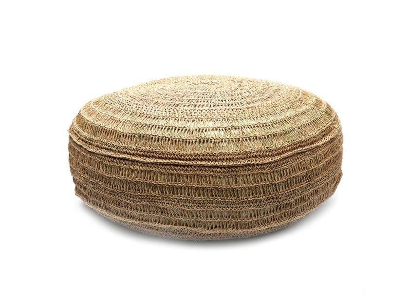 Round Seagrass pouf SEAGRASS | Pouf by Bazar Bizar