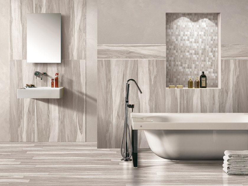 Porcelain stoneware wall tiles with wood effect SEASON | Wall tiles by Serenissima