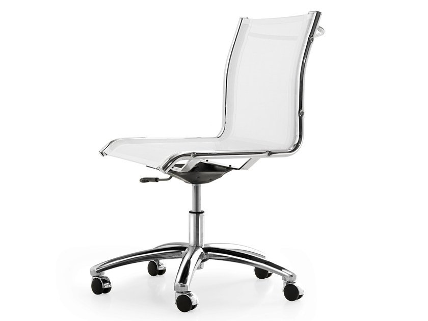 Height-adjustable mesh task chair with 5-Spoke base with casters SEASON NET   Height-adjustable task chair by Quinti Sedute