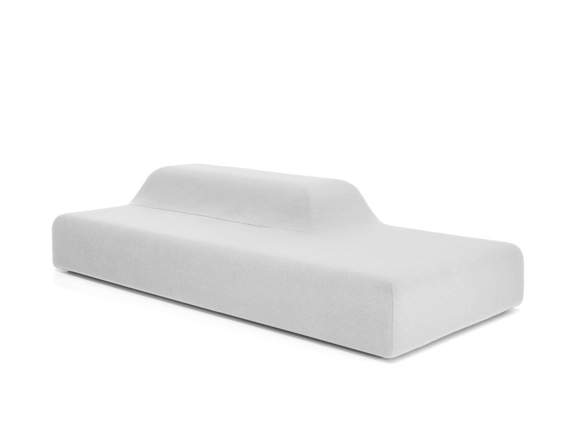 Upholstered synthetic fibre bench SEASON | Bench by Viccarbe